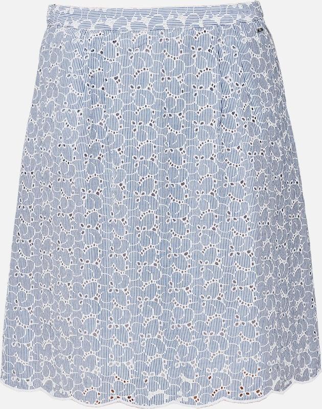S.Oliver rot LABEL Rock in hellblau   weiß  Mode neue Kleidung
