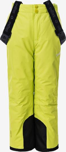 ZigZag Skihose in neongelb / schwarz, Produktansicht