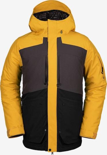 Volcom Snowboardjacke 'Scortch Ins' in neongelb / dunkelgrau / schwarz, Produktansicht