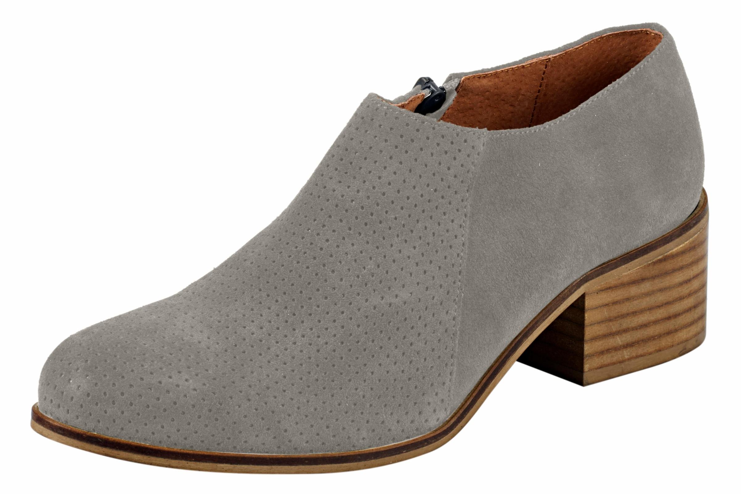 heine Stiefelette aus Veloursleder Günstige und langlebige Schuhe