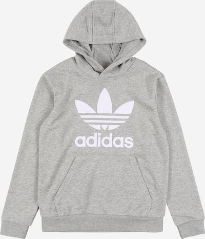 ADIDAS ORIGINALS Sweatshirt 'Trefoil' in graumeliert / weiß, Produktansicht