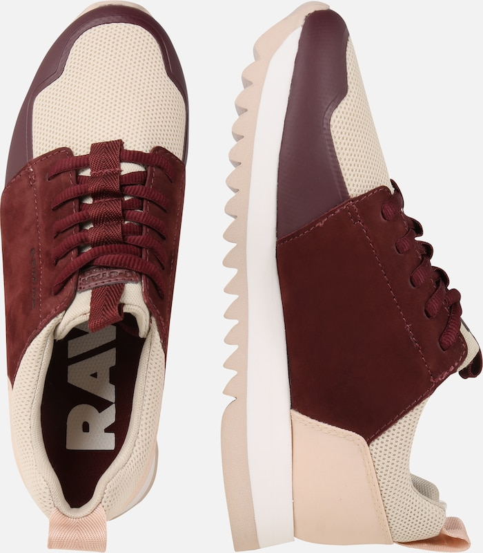 Bordeaux Sneakers Laag In Raw Wmn' 'deline G star PynwONvm80