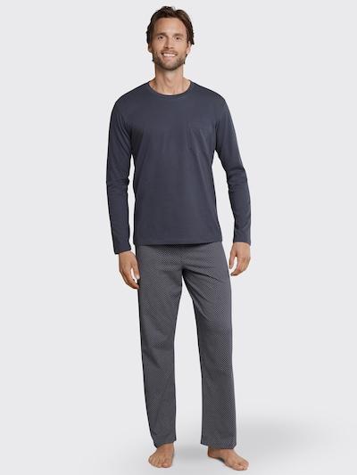 Pijama lungă SCHIESSER pe gri metalic, Vizualizare model