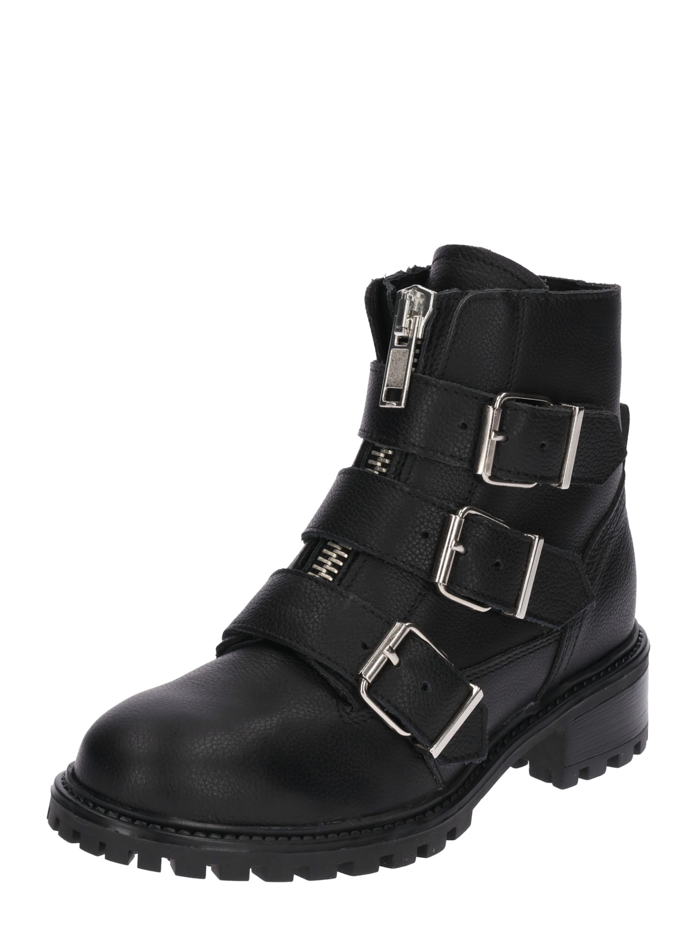 PS Poelman | Stiefelette im Biker-Look Schuhe Gut getragene Schuhe