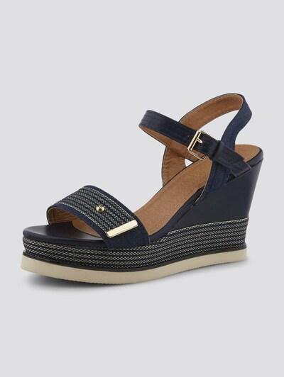 TOM TAILOR Shoes Sandaletten mit Keilabsatz in dunkelblau, Produktansicht