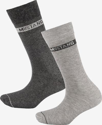 MUSTANG 3 Paar Socken basic in grau, Produktansicht