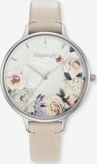 Engelsrufer Quarzuhr 'Blume, Erwa-Flower-LBE1-LS' in beige / silber / perlweiß, Produktansicht