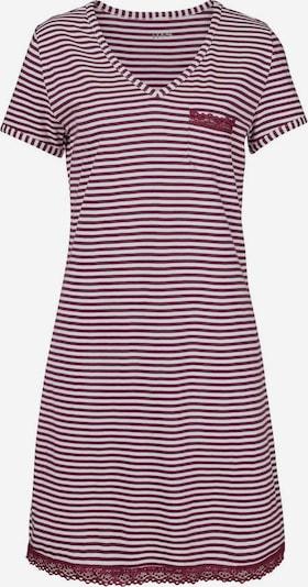 H.I.S Nachthemd in de kleur Bordeaux / Wit, Productweergave