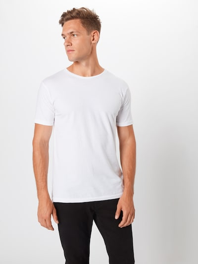KnowledgeCotton Apparel T-Shirt en blanc: Vue de face