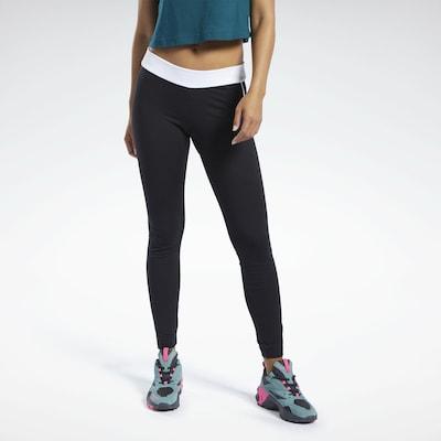Reebok Classic Leggings in schwarz / weiß, Modelansicht