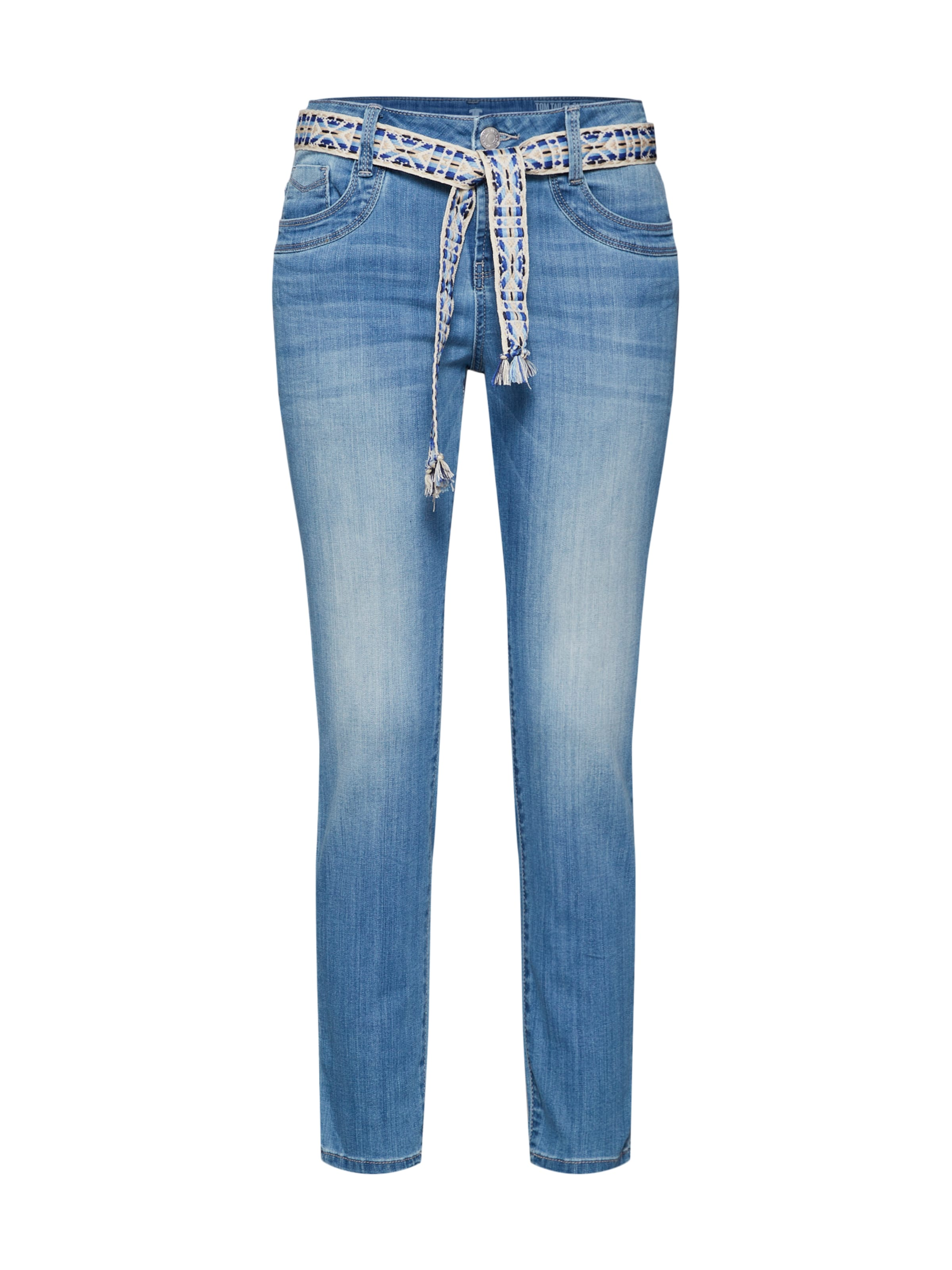 Tom Tailor In 'tom Ankle' Blue Tapered Denim Relaxed Long Jeans wuOkZTXiP