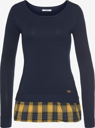Tom Tailor Polo Team Pullover in marine / gelb, Produktansicht