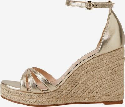 MANGO Sandaletten in beige / gold, Produktansicht