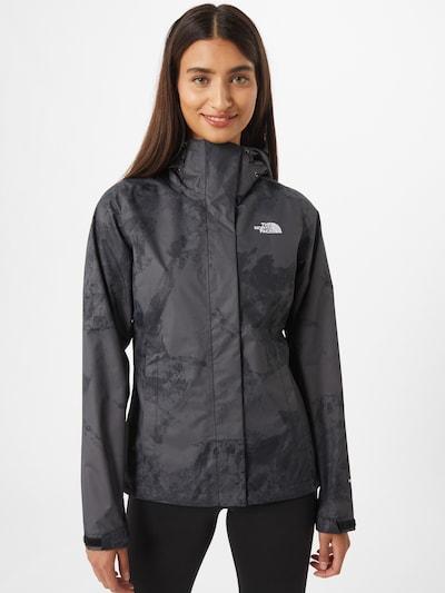 THE NORTH FACE Outdoorová bunda 'Venture 2' - grafitová / tmavě šedá / bílá: Pohled zepředu