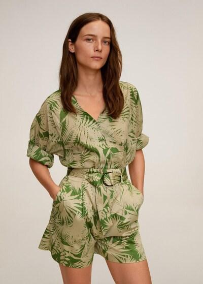 MANGO Shorts in gelb / grün, Modelansicht