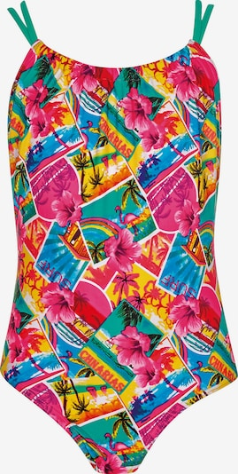 OLYMPIA Badeanzug in gelb / pink, Produktansicht