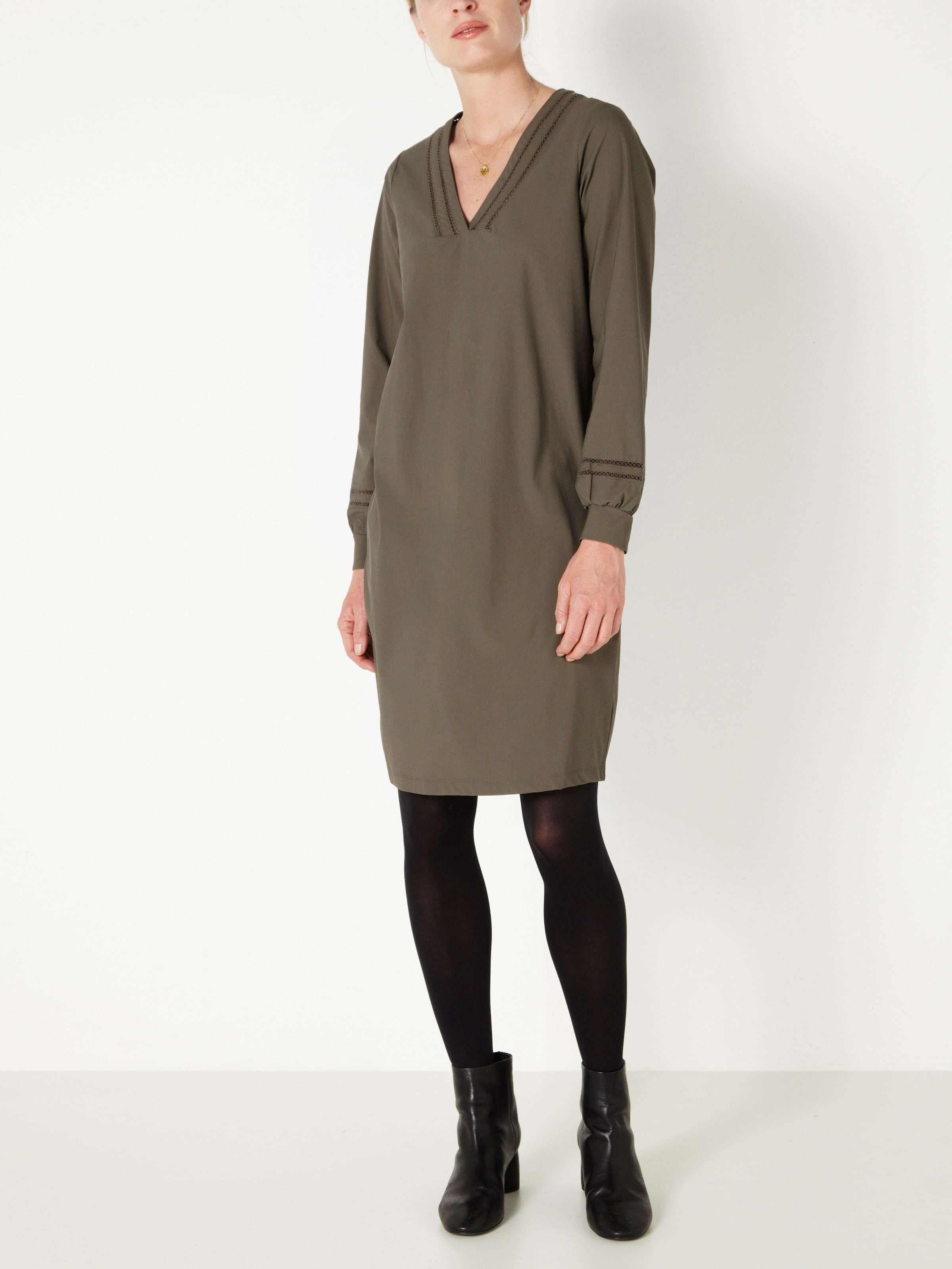 Kleid Sandwich In Khaki Khaki Kleid Sandwich In Sandwich RcL54ASj3q