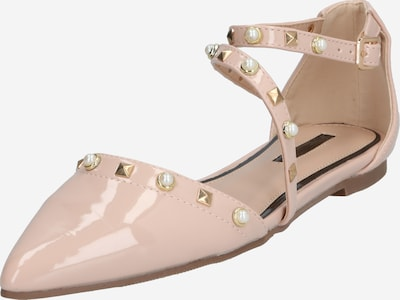 Miss Selfridge Slipper 'LEXA Asymmetric Stud Ballerina' in nude, Produktansicht
