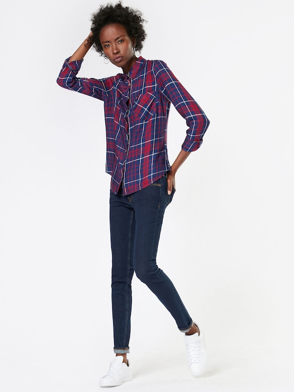 Tommy Jeans Karobluse 'THDW BASIC CHECK SHIRT L/ S 44'
