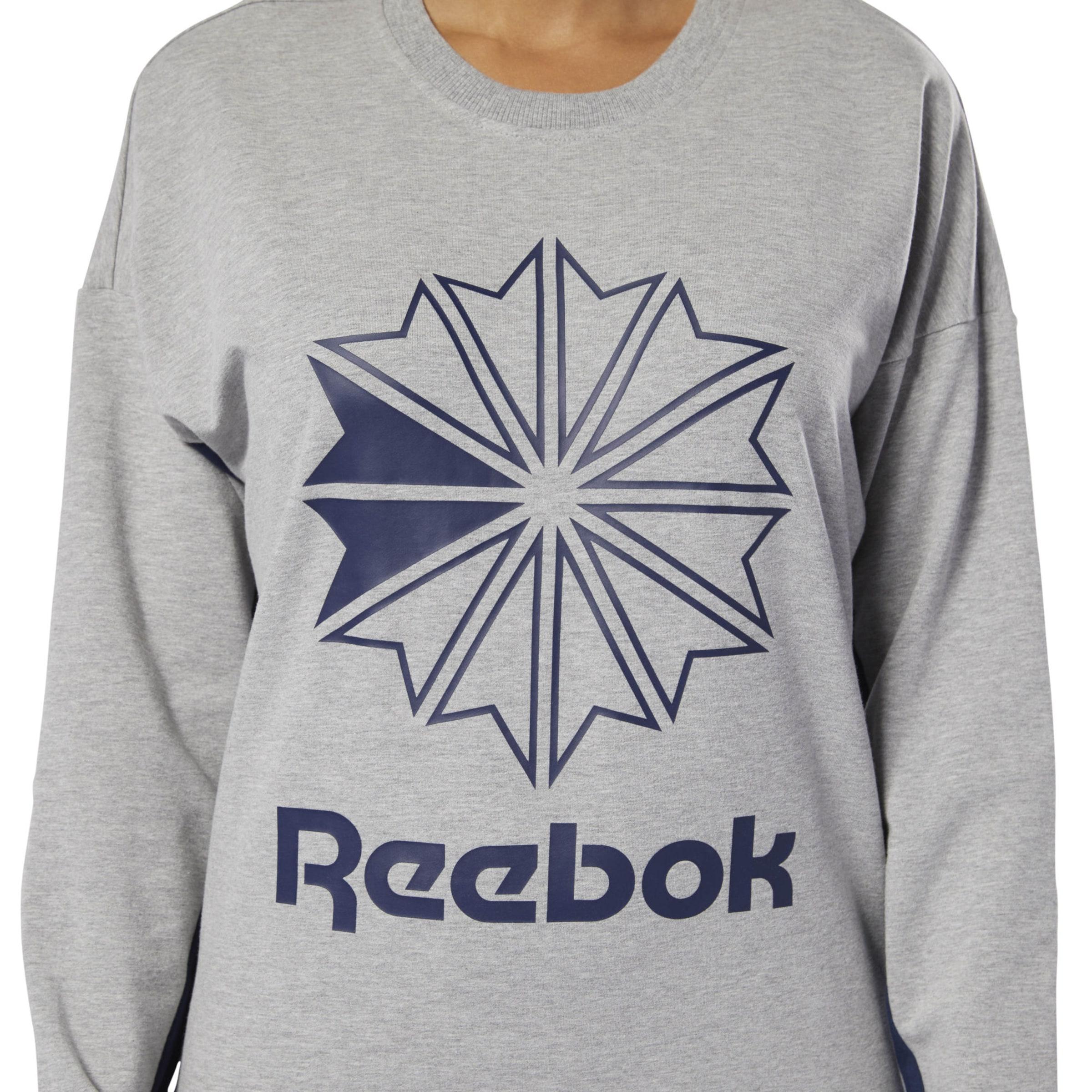 Sweatshirt Reebok In Hellgrau Classic fYb76yg