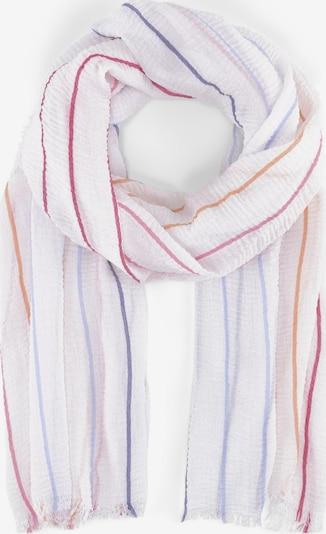 TOM TAILOR Schal in hellorange / pink / weiß, Produktansicht