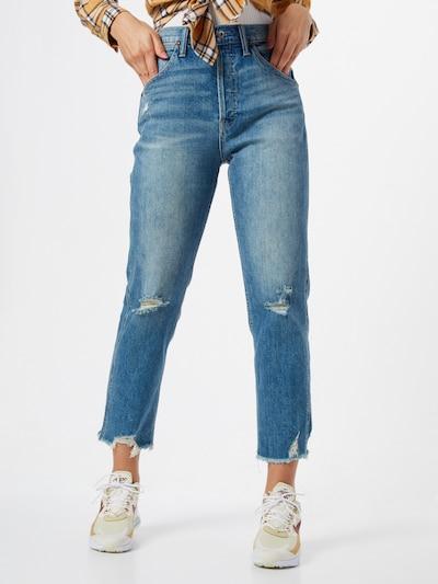 GAP Jeans '1969 HR WIDE STRAIGHT HIDEEN BTTN RIGID DK' in indigo, Modelansicht