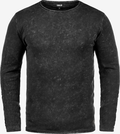 !Solid Rundhalspullover 'Kirisaku' in schwarz: Frontalansicht