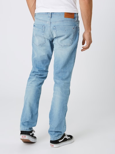 Tommy Jeans Jeans 'Slim Scanton BELB' in blue denim: Rückansicht