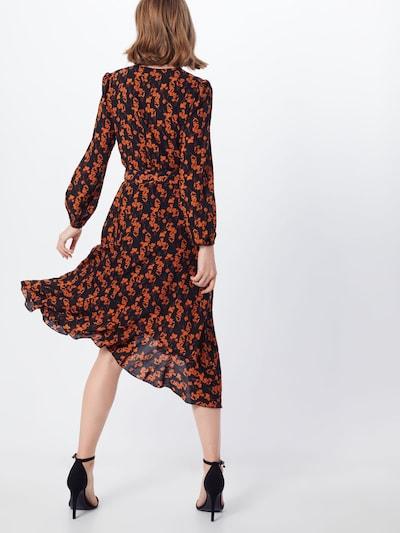 Suknelė 'RUFFLE' iš Mela London , spalva - oranžinė / juoda: Vaizdas iš galinės pusės
