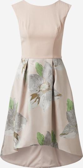 Chi Chi London Kleid in hellbeige / silbergrau / grün, Produktansicht