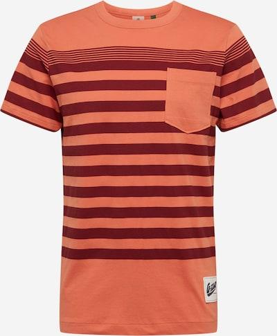 G-Star RAW Shirt 'Vacation stripe' in pastellorange / bordeaux, Produktansicht