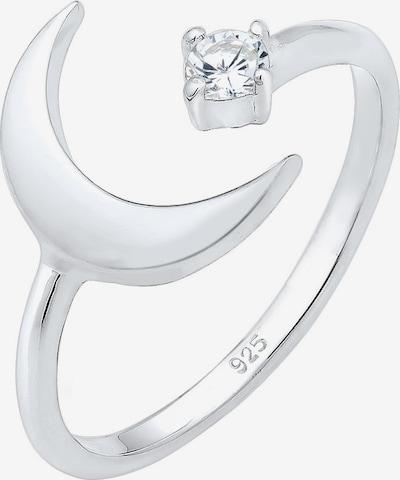 ELLI Ring 'Halbmond, Stein' in silber, Produktansicht