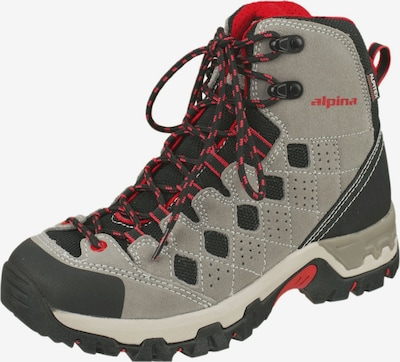 Alpina Wanderstiefel 'Jules' in grau / rot / schwarz, Produktansicht