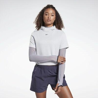 REEBOK Sportsweatshirt in hellgrau: Frontalansicht