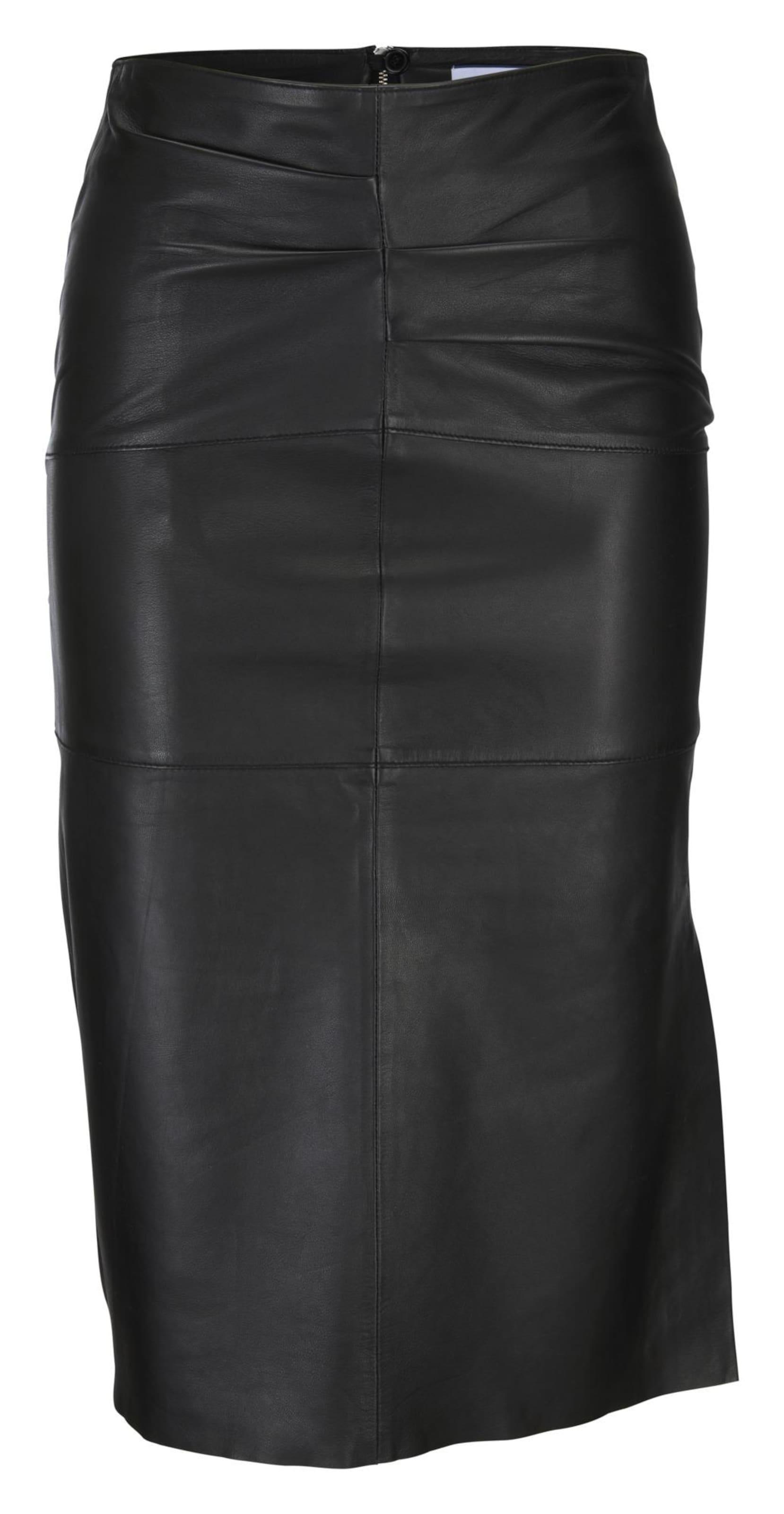 heine Lederrock in schwarz