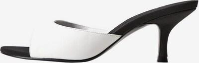 MANGO Sandalette in schwarz / weiß, Produktansicht