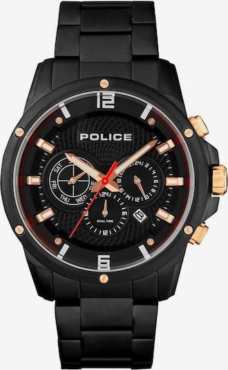 POLICE Uhr 'SHANDON' in bronze / feuerrot / schwarz / silber, Produktansicht