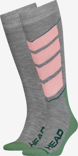 HEAD Funktionssocken in grau / graumeliert / pink, Produktansicht