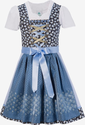 Isar-Trachten Kinder in nachtblau / hellblau / weiß, Produktansicht