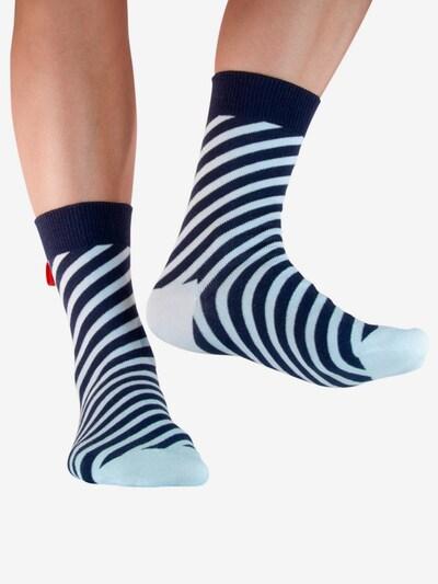 Tag SOCKS Sokken 'Stars & Stripes' in de kleur Lichtblauw / Donkerblauw, Modelweergave