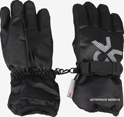 COLOR KIDS Fingerhandschuhe 'Savoy' in schwarz / weiß, Produktansicht
