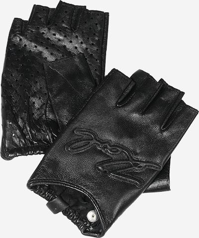 Karl Lagerfeld Kurzfingerhandschuhe in schwarz, Produktansicht