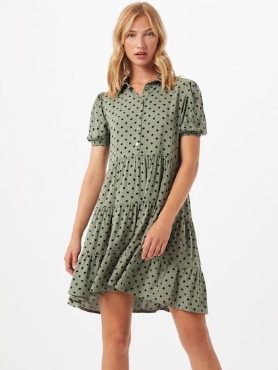 Trendyol Košilové šaty - olivová / černá: Pohled zepředu