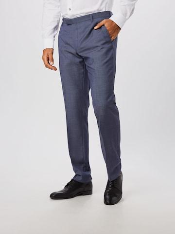 JOOP! Spodnie w kant 'Blayr' w kolorze niebieski