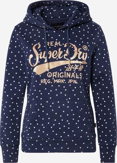 Superdry Sweatshirt in marine / gold / weiß, Produktansicht