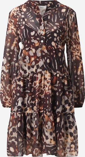 Liebesglück Košilové šaty - hnědá / černá, Produkt