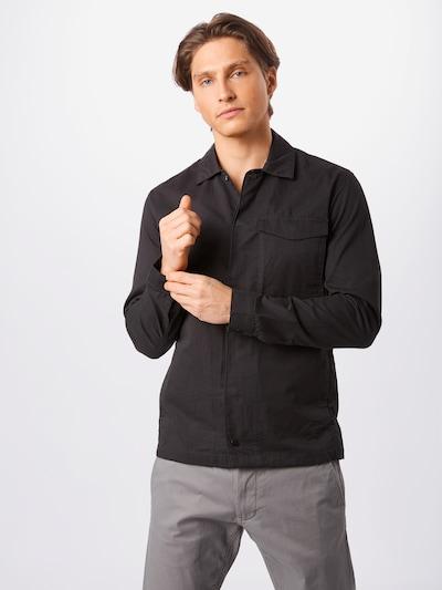 JACK & JONES Hemd 'JCOBOSS OVERSHIRT LS ONE POCKET' in schwarz, Modelansicht