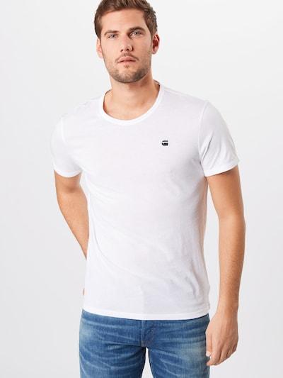 G-Star RAW Shirt 'Base-s' in schwarz / weiß: Frontalansicht