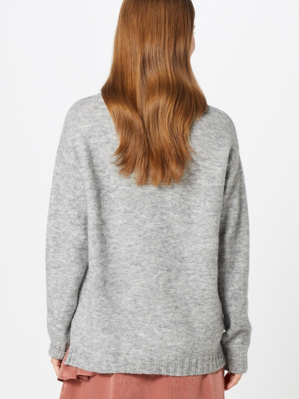 SOAKED IN LUXURY Pull-over en gris chiné: Vue de dos