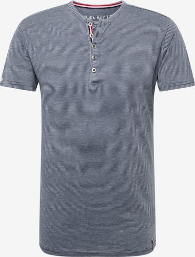 Key Largo Shirt 'MT DIETER' in dunkelblau / weiß, Produktansicht